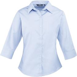 Textil Mulher camisas Premier Poplin Azul claro