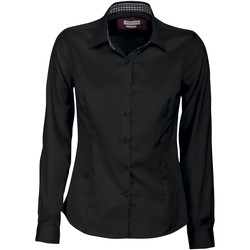 Textil Mulher camisas J Harvest & Frost JF006 Preto/ Vermelho