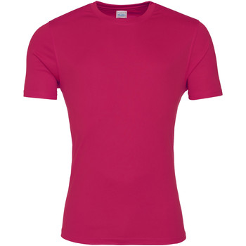 Textil Homem T-Shirt mangas curtas Awdis JC020 Rosa Quente