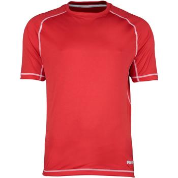 Textil Homem T-Shirt mangas curtas Rhino RH041 Costura vermelha/branca