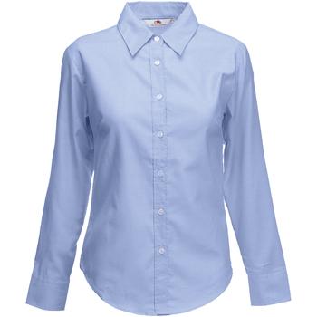 Textil Mulher camisas Fruit Of The Loom 65002 Oxford Blue