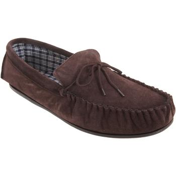 Sapatos Homem Chinelos Mokkers  Marrom Escuro