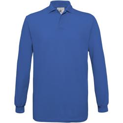 Textil Homem Polos mangas compridas B And C PU414 Royal Blue
