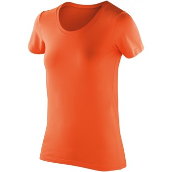 Textil Mulher T-Shirt mangas curtas Spiro S280F Tangerina