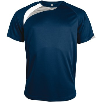 Textil Homem T-Shirt mangas curtas Kariban Proact PA436 Marinha/ Branco/ Cinza Tempestade