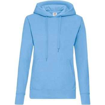 Textil Mulher Sweats Fruit Of The Loom 62038 Azul Céu