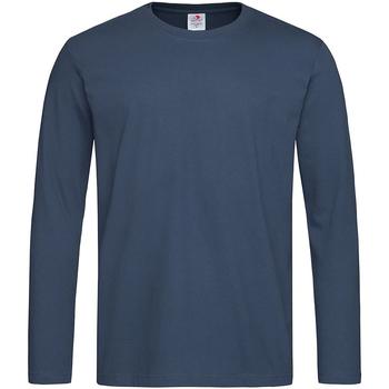 Textil Homem T-shirt mangas compridas Stedman  Marinha