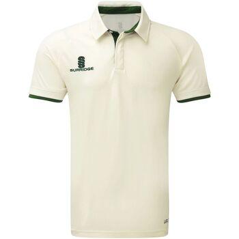 Textil Rapaz Polos mangas curta Surridge SU13B Guarnição branca/verde