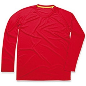 Textil Homem T-shirt mangas compridas Stedman  Vermelho carmesim