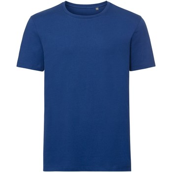 Textil Homem T-Shirt mangas curtas Russell R108M Brilhante Real