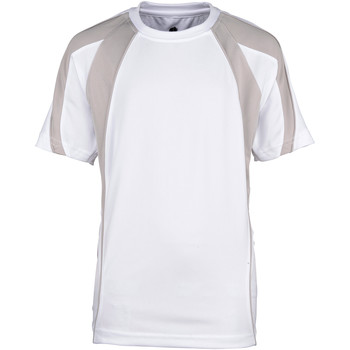 Textil Rapaz T-Shirt mangas curtas Rhino RH40B Branco/Cinza