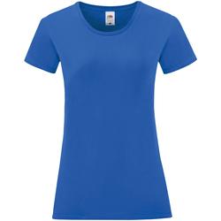 Textil Mulher T-Shirt mangas curtas Fruit Of The Loom 61432 Royal Blue