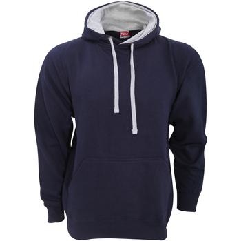 Textil Homem Sweats Fdm FH002 Marinha/Cinzento de couro