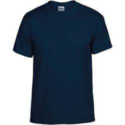 Textil Homem T-Shirt mangas curtas Gildan DryBlend Marinha