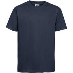 Textil Criança T-Shirt mangas curtas Russell 155B marinha francesa