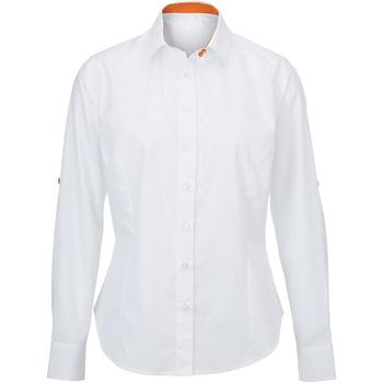 Textil Mulher camisas Alexandra AX060 Branco/ Laranja
