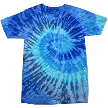 Textil Mulher T-Shirt mangas curtas Colortone Rainbow Jerry Azul