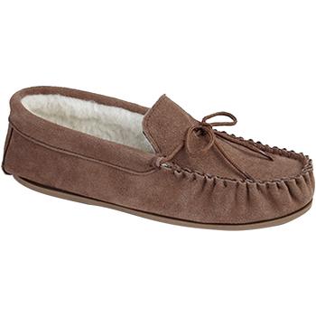 Sapatos Homem Chinelos Mokkers  Camelo escuro