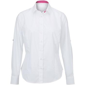 Textil Mulher camisas Alexandra AX060 Branco/ Rosa