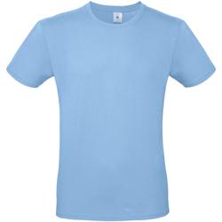 Textil Homem T-Shirt mangas curtas B And C TU01T Azul Céu