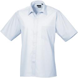 Textil Homem Camisas mangas curtas Premier PR202 Azul claro