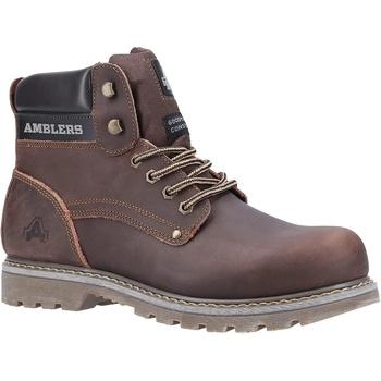 Sapatos Homem Botas baixas Amblers Dorking Mens Boot Cavalo Louco Marrom