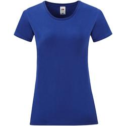 Textil Mulher T-Shirt mangas curtas Fruit Of The Loom 61432 Cobalto Azul