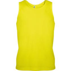 Textil Homem Tops sem mangas Kariban Proact PA441 Amarelo Fluorescente
