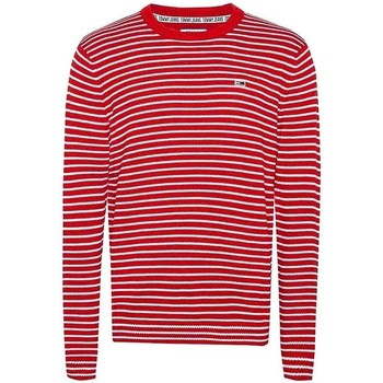 Textil Homem camisolas Tommy Jeans TJM ESSENTIAL STRIPE SWEATER vermelho