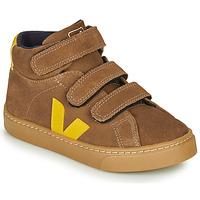 Sapatos Criança Sapatilhas de cano-alto Veja SMALL-ESPLAR-MID Castanho / Amarelo