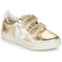 Sapatos Rapariga Sapatilhas Veja SMALL-ESPLAR-VELCRO Ouro / Branco