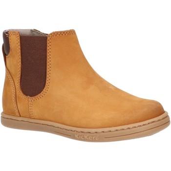 Sapatos Criança Botas baixas Kickers 738640-10 TACKBOOT Amarillo