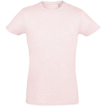 Textil Homem T-Shirt mangas curtas Sols 10553 Heather Pink