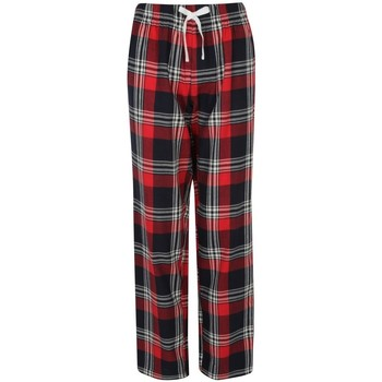 Textil Mulher Pijamas / Camisas de dormir Skinni Fit Tartan Cheque Vermelho/Navio