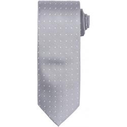 Textil Homem Gravatas e acessórios Premier Dot Pattern Prata/ Branco