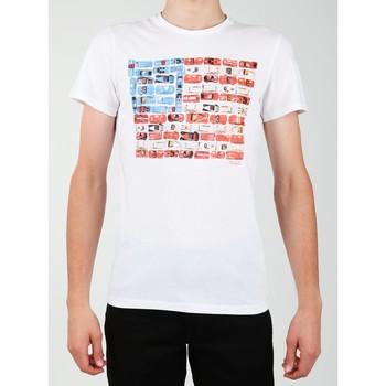 Textil Homem T-Shirt mangas curtas Wrangler S/S Modern Flag Tee W7A45FK12 white