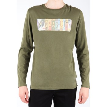 Textil Homem T-shirt mangas compridas Lee L848AI oliwkowozielony