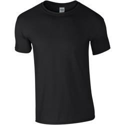 Textil Homem T-Shirt mangas curtas Gildan Soft-Style Preto