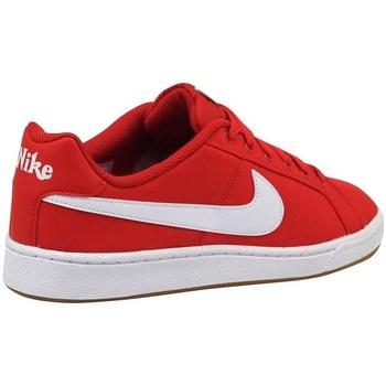 Sapatos Homem Sapatilhas Nike Court Royale Canvas Branco, Vermelho