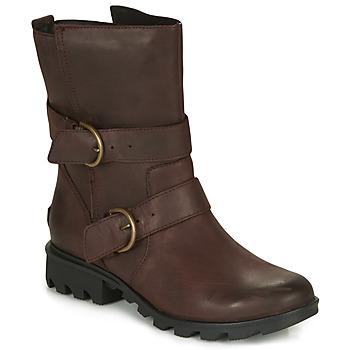 Sapatos Mulher Botas de neve Sorel PHOENIX MOTO Castanho