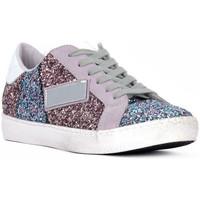 Sapatos Mulher Sapatilhas At Go GO GLITTER NEWBIG Bianco