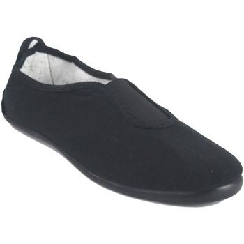 Sapatos Homem Sapatilhas Bienve Lona senhora  100 preta Preto