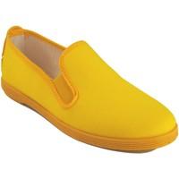 Sapatos Mulher Sapatilhas Bienve Lona senhora  102 amarela Amarelo
