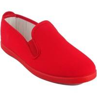 Sapatos Mulher Sapatilhas Bienve Lona senhora  102 vermelho Rouge