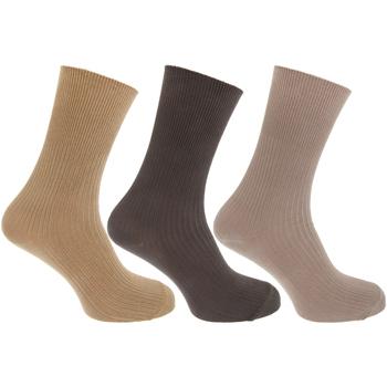 Acessórios Homem Meias Universal Textiles  Cream/Beige/Brown