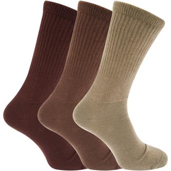 Acessórios Homem Meias Universal Textiles  Tons marrons