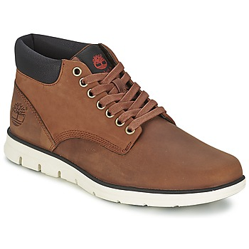 Sapatos Homem Sapatilhas de cano-alto Timberland BRADSTREET CHUKKA LEATHER Castanho