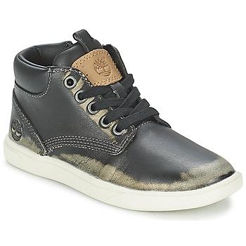 Sapatos Criança Botas baixas Timberland GROVETON LEATHER CHUKKA Preto