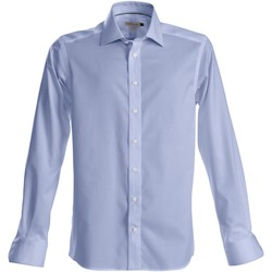 Textil Homem Camisas mangas comprida J Harvest & Frost Green Bow Azul Céu