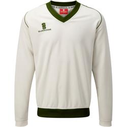 Textil Homem Sweats Surridge SU008 Branco/ Verde guarnição